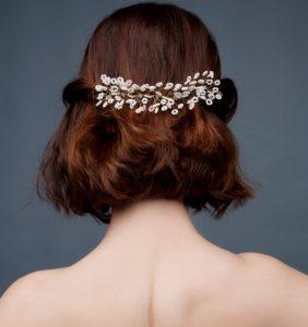 peinados para novia pelo corto