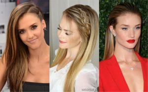 peinados para fiesta cabello liso