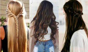 peinados pelo largo suelto