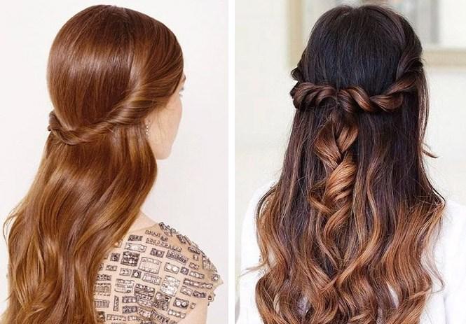 peinados semirecogidos modernos