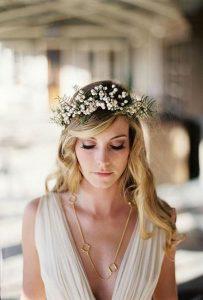peinados boho pelo suelto para novia