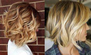 pelo corto con ondas