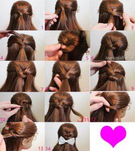 semi recogido para pelo largo de niña
