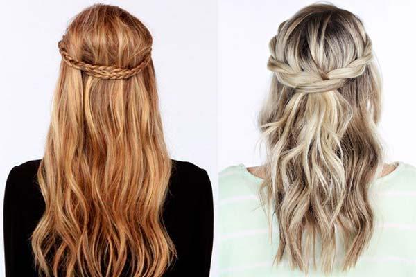peinados semi rcogidos a la moda