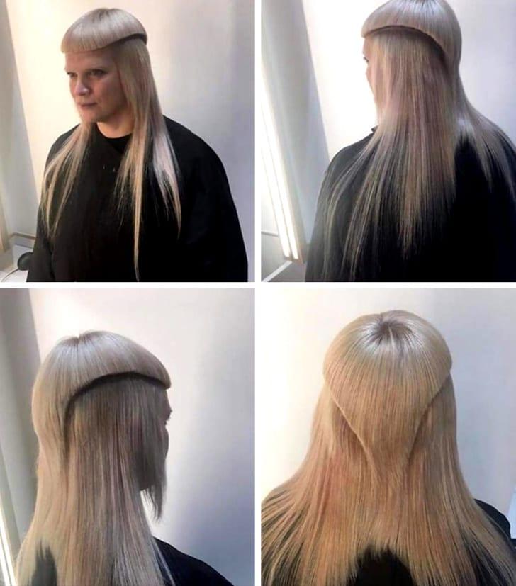 corte de cabello raro en capas