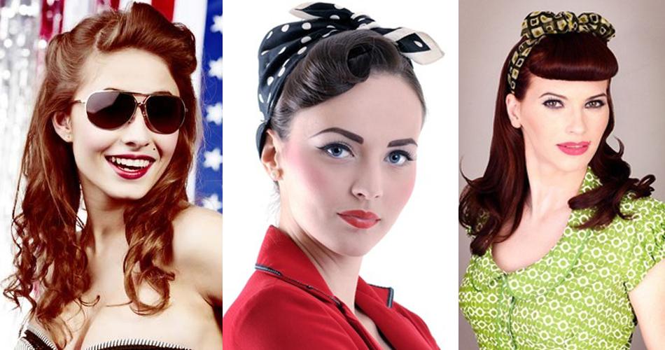 diferentes peinados vintage