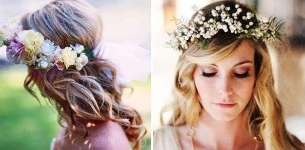 ideas de peinados de boda con flores