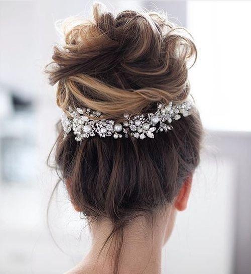 peinado de boda al descuido facil