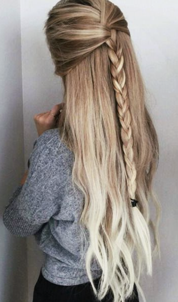 peinado casual semi recogido