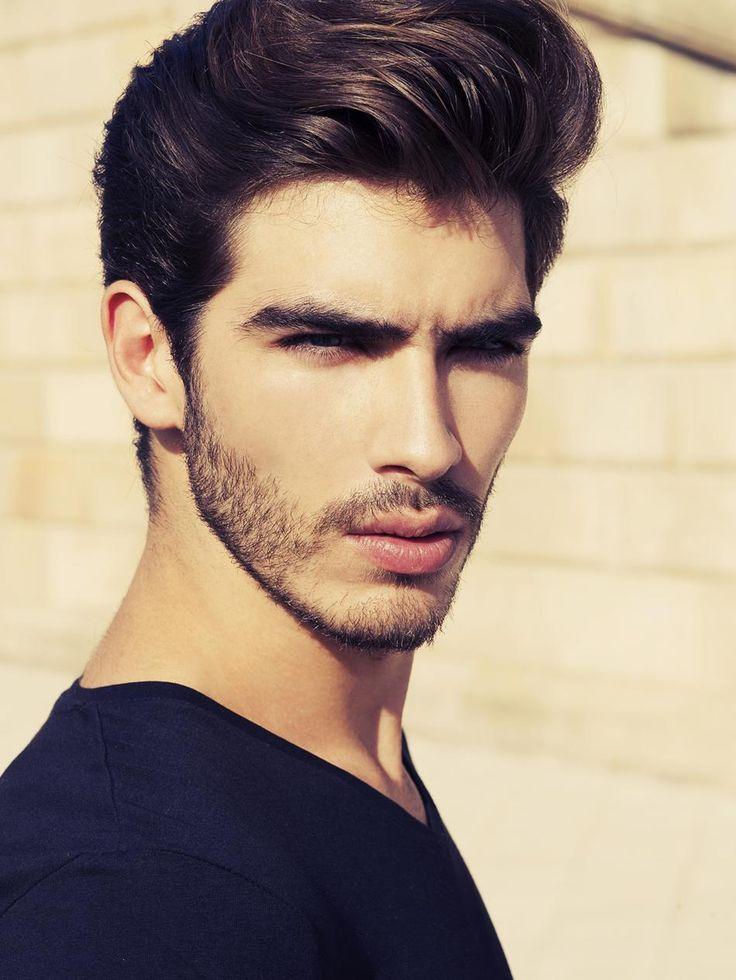peinado con barba corta
