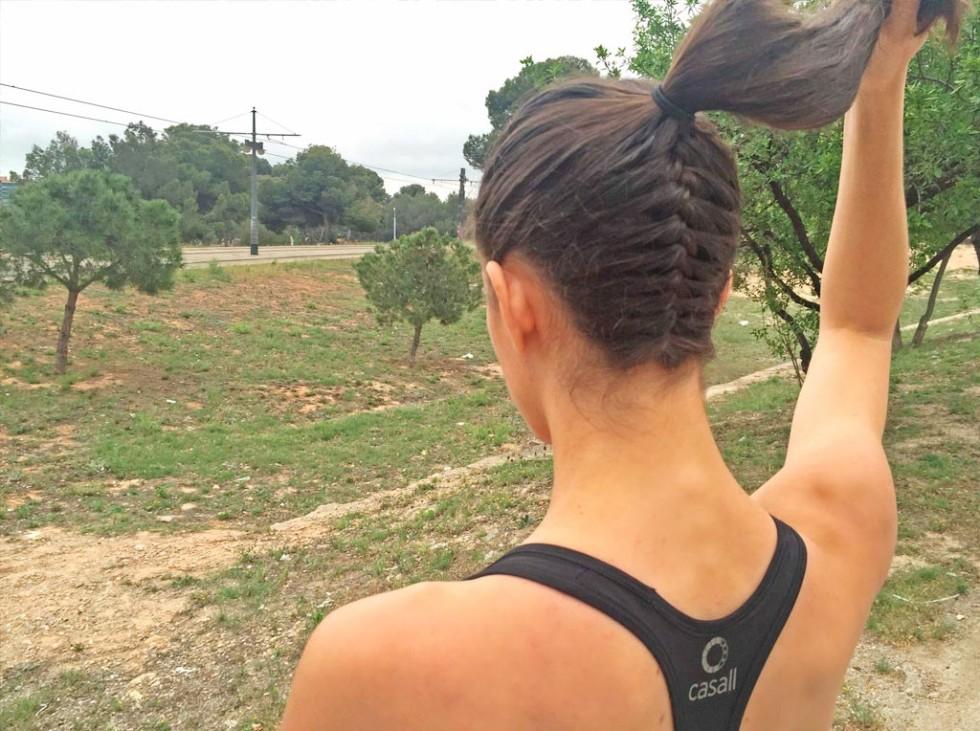 peinado de coleta para correr