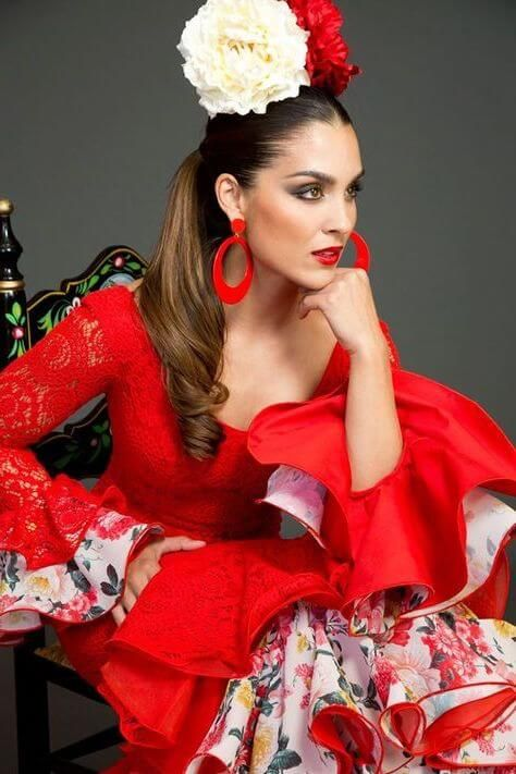 peinado de coleta flamenca