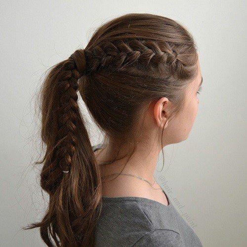 peinado de coleta para adolescente