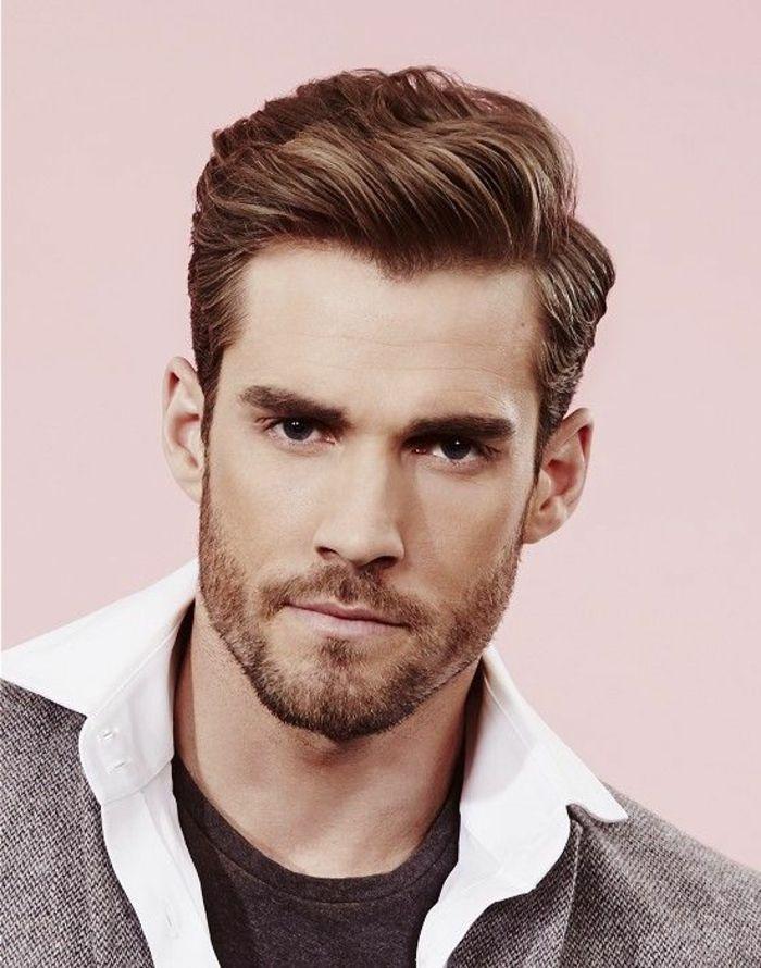 peinado de hombre con barba corta