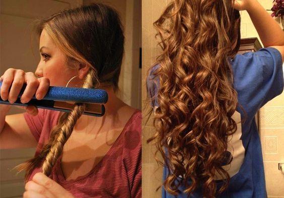 peinado de ondas desenfadadas con plancha