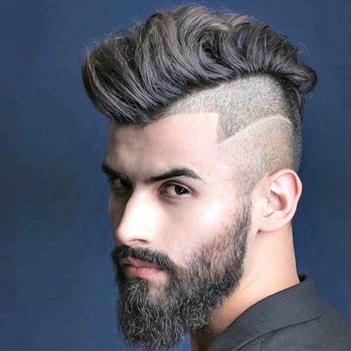 peinado de raya degradada de hombre