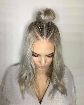 peinado de rodetes informal