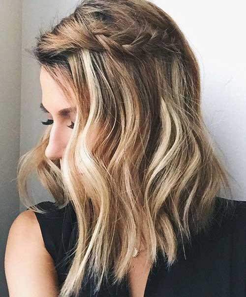 peinado desenfadado de trenza