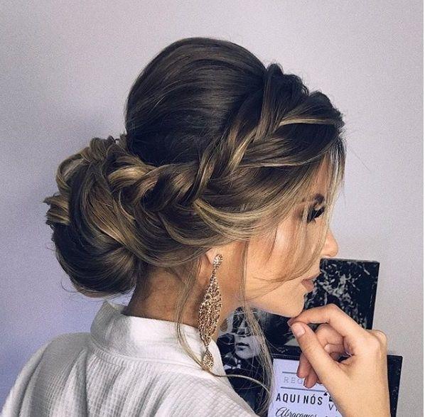 peinado desenfadado elegante