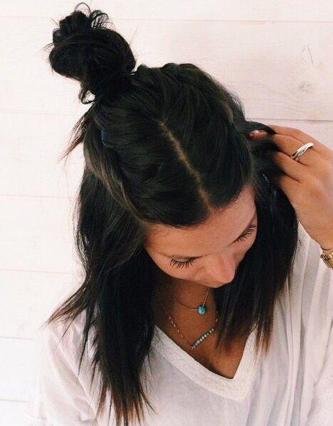 peinado desenfadado semi recogido con trenza