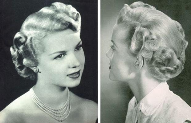 peinado elaborado de los años cuarenta
