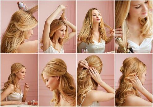 peinado elegante para tocados