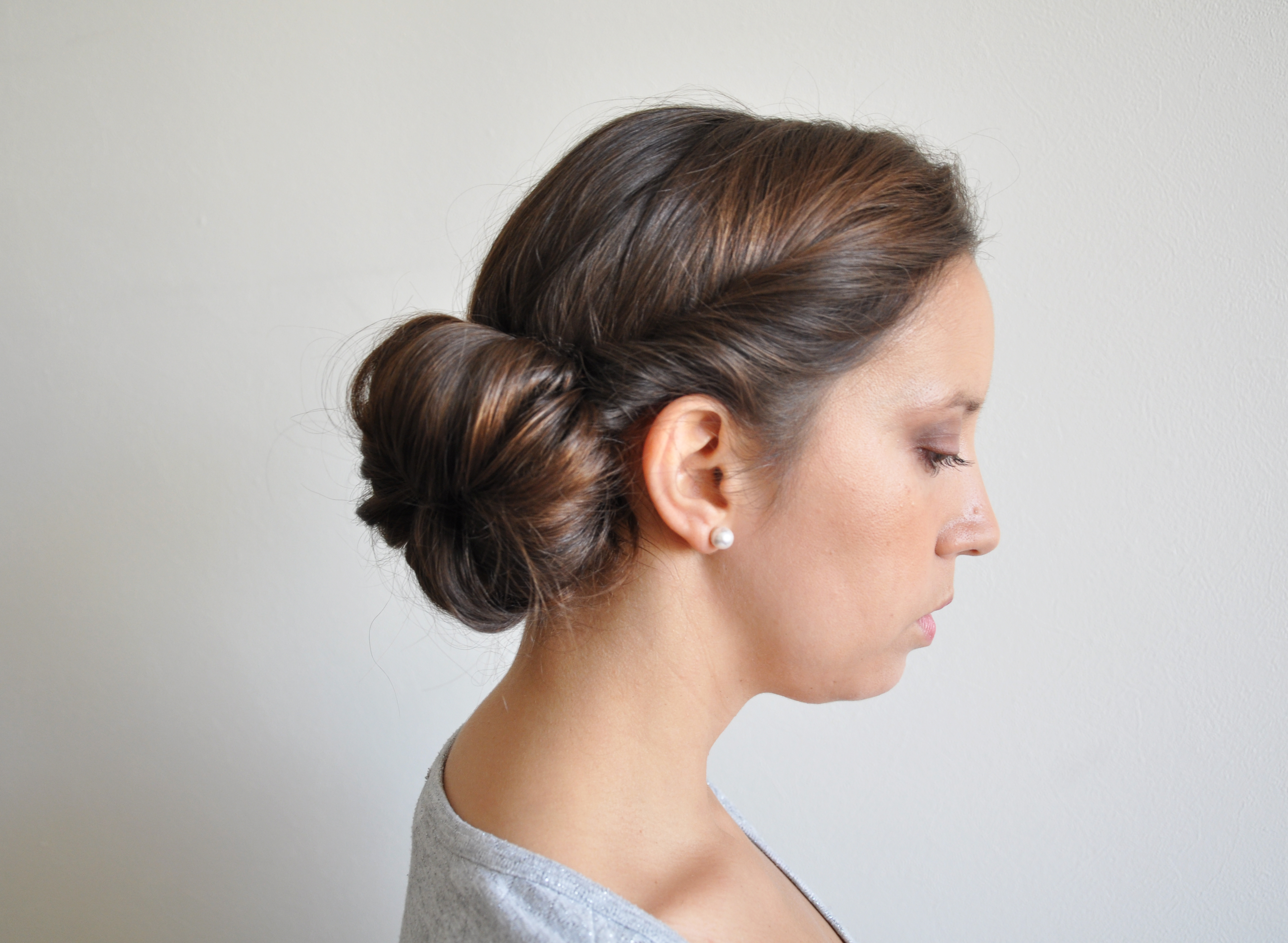 peinado facil de rodete