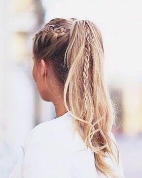 peinado informal de coleta alta