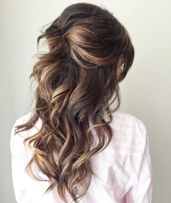 peinado semirecogido informal