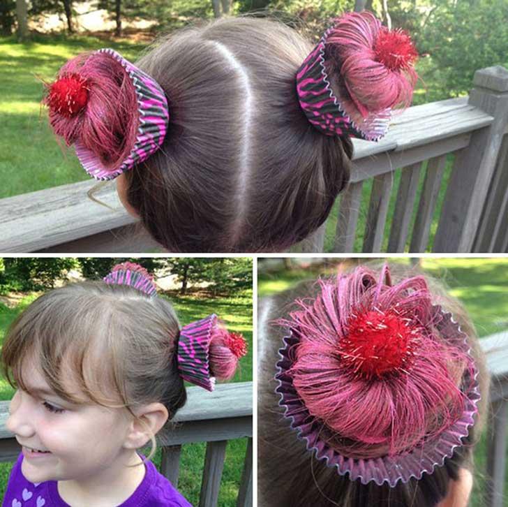peinado raro para niña