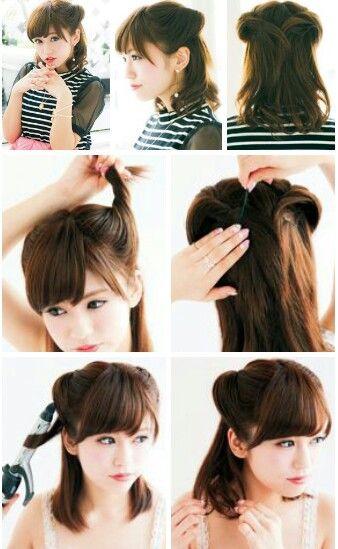peinado semi recogido japones