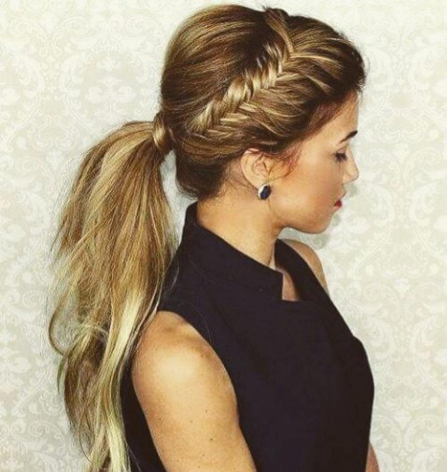 peinado sencillo de coleta