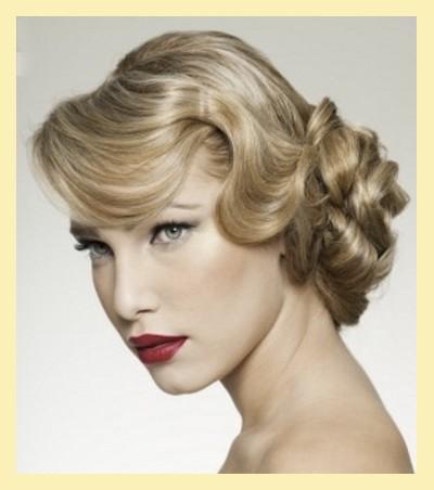 peinado vintage de los años cincuenta