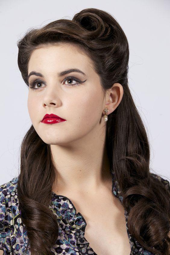 peinado vintage de los años 40