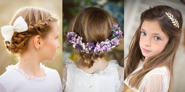 peinados con tocados para niñas