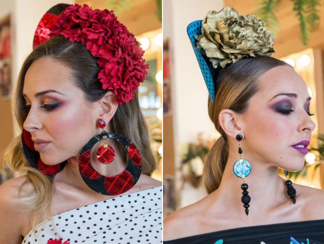 peinado de flamenca moderno