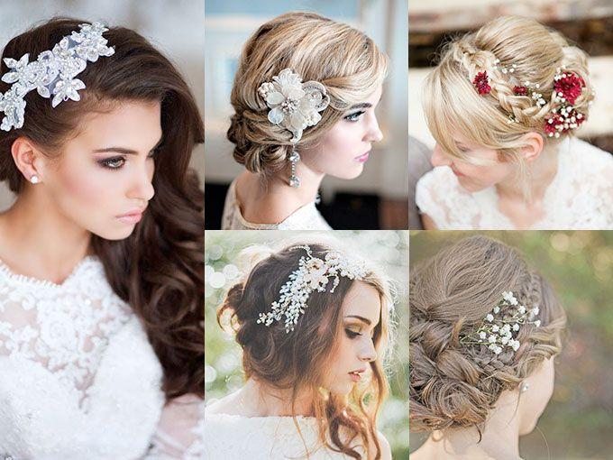 peinados con flores para boda