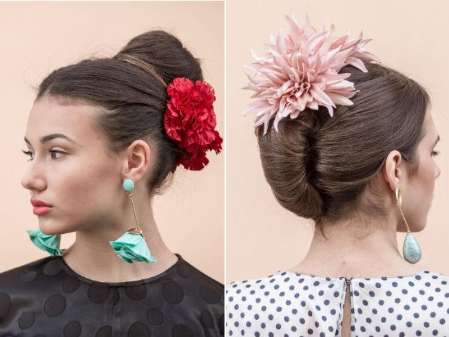 peinado de feria flamenca