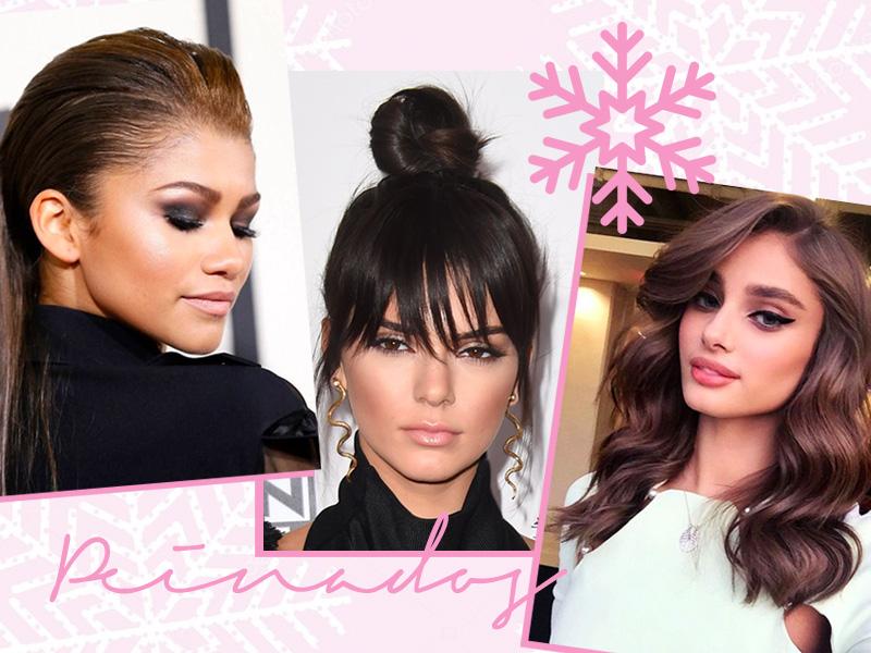 peinados para fiestas navideñas