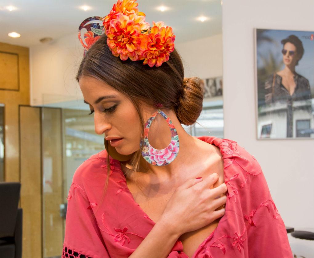 peinados con rodete de flamenca