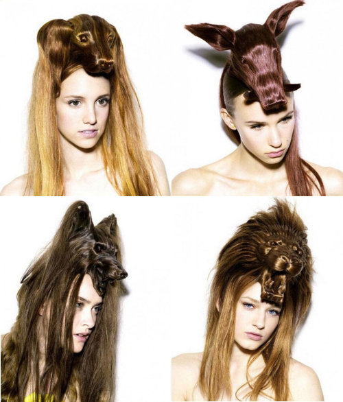 peinados raros con formas de animales