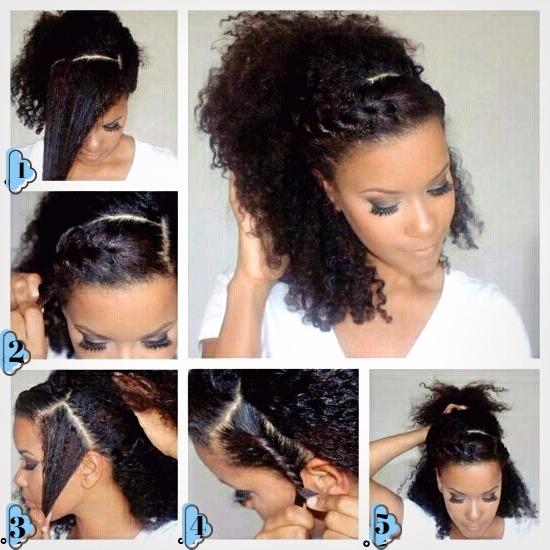 peinado para hacer trenzas en cabello corto y rizado paso a paso