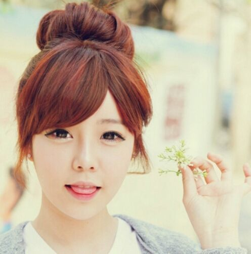 peinado chino con rodete