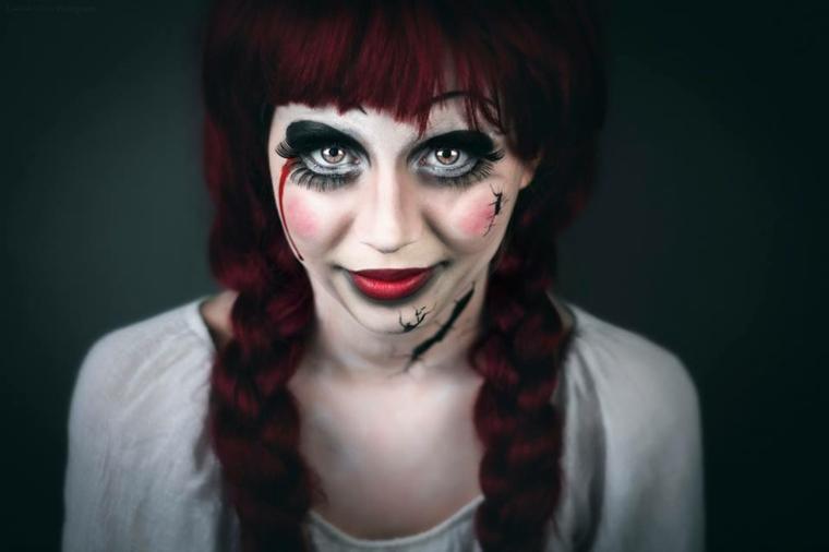 peinado de muñeca para halloween