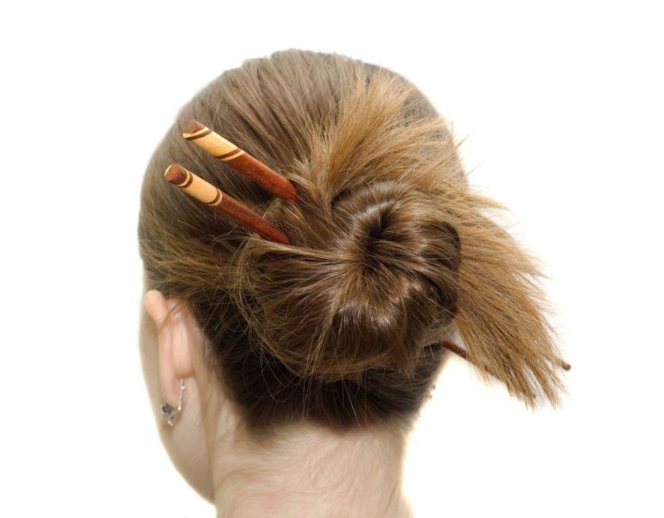 peinado con rodete chino