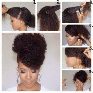 peinado para cabello rizado media melena