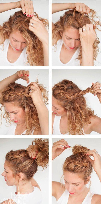 peinado recogido rizado
