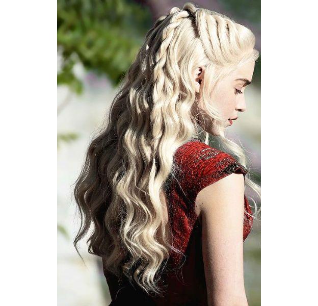 peinado romantico de daenerys