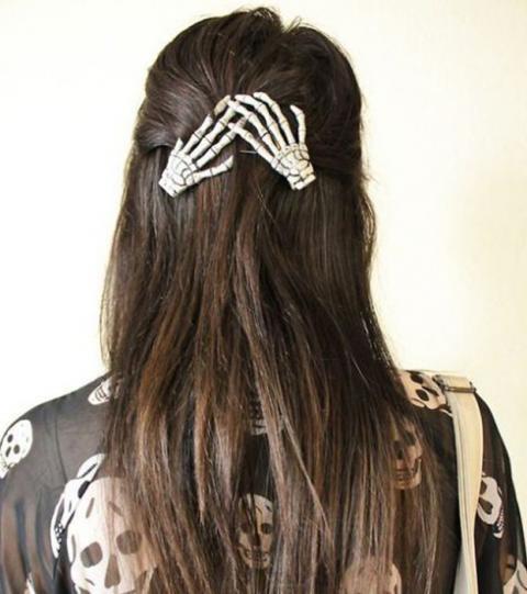 peinado sencillo para halloween