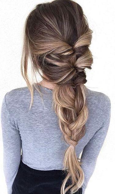 peinado de trenza para poco cabello